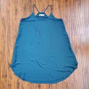 LOFT Crisp Teal Strappy Racerback Dress